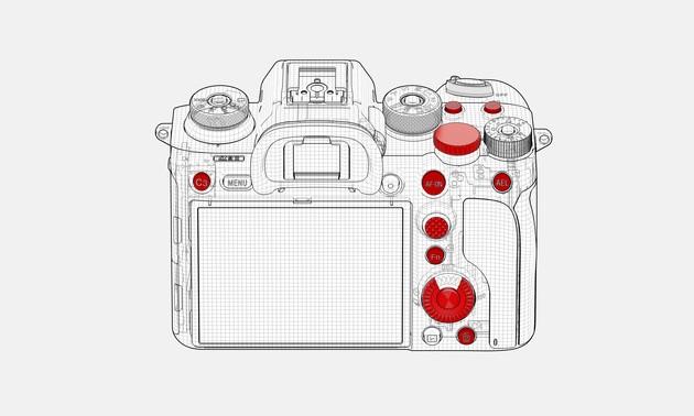 Sony-Alfa-A9-II-Tuslar Sony α9 II Profesyonel Full Frame Fotoğraf Makinesi