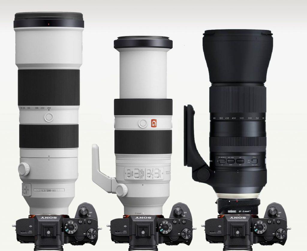 Sony-200-600mm-vs-Sony-100-400mm-vs-Tamron-150-500mm-1024x837 Sony Alfa En Yüksek Odak Uzaklığına Sahip Lensler: Karşılaştırma