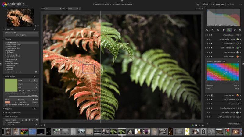 darktable 2021'in En İyi Ücretsiz Fotoğraf Düzenleme Programları