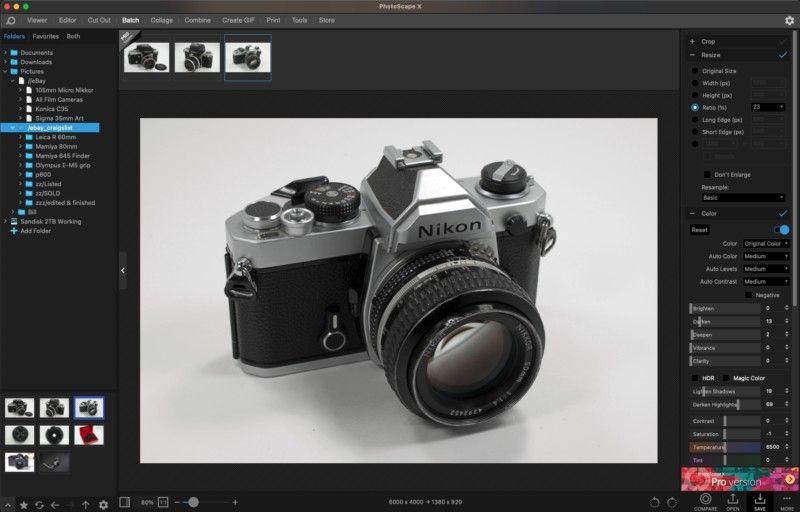 photoscape-x 2021'in En İyi Ücretsiz Fotoğraf Düzenleme Programları